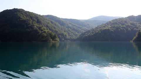 beautiful landscape in Plitvice national park from Footage