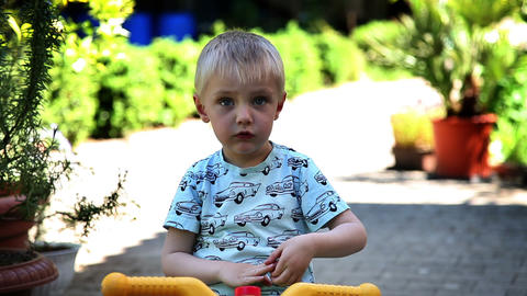 Shot of sad little boy Live Action
