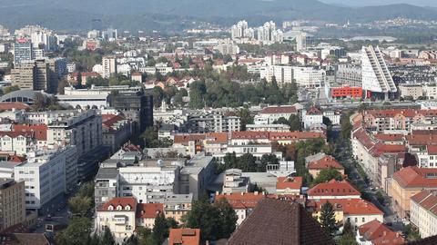 Ljubljana city at day Live Action