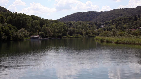 Shot Of River Krka-Croatia Made From The Floating  stock footage