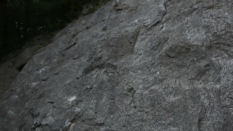 Man Rock Climbing In Beautiful Nature stock footage