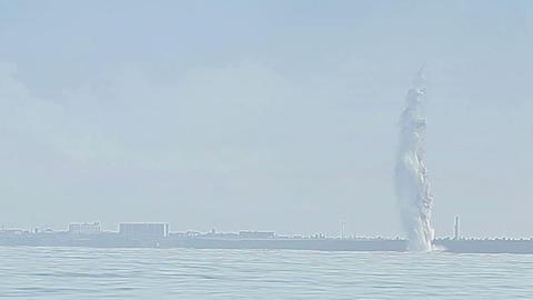 Underwater Explosion stock footage