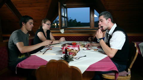 Couples on a romantic dinner in countryside Live Action