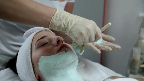 Facial mask at the beauty spa Footage