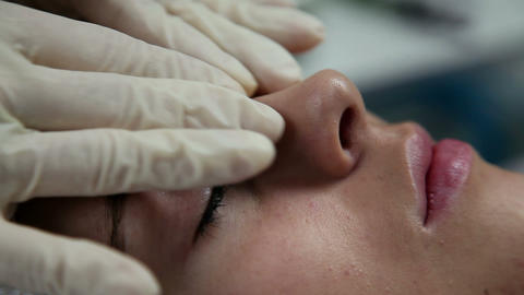 Facial massage of silky skin Footage