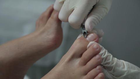 Pedicure in beauty salon Footage