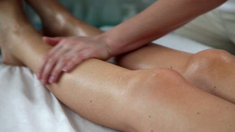 Massage in beauty spa salon Footage