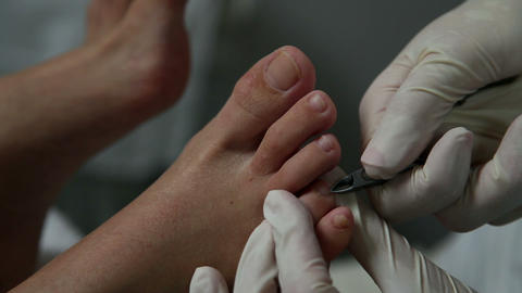 Clipping toenails Footage