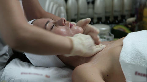 Facial mask beauty treatmant Live Action