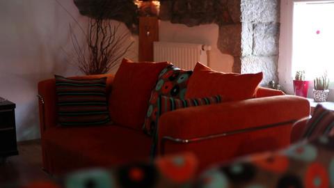 Shot of interesting living room Footage