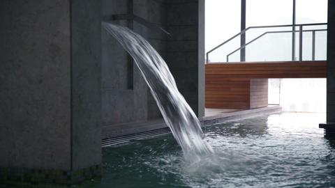 fresh water splashing in the pool Footage