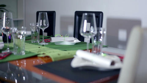 Specially decorated table for a special occasion Footage