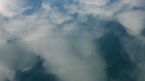 Reflection of the clouds on a water surface Footage
