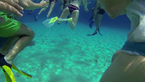 Lower body shots in sea underwater Footage