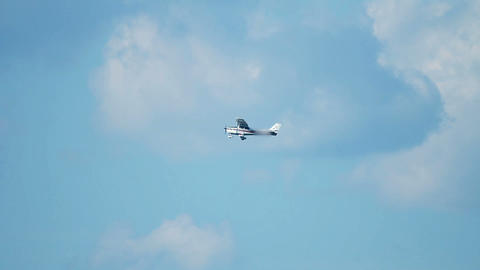 Small Airplane In Mid Air Shot From Below stock footage