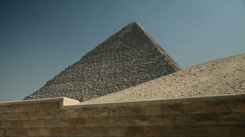 Pyramid from below with blue sky Footage