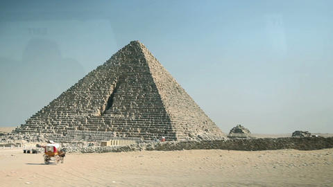 In vehicle shot of pyramid Footage