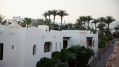 Buildings with palms in Sharm Footage