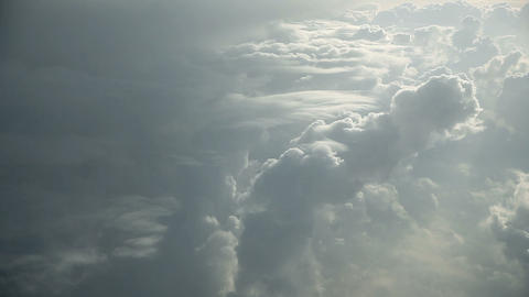 White clouds from above while flying Footage