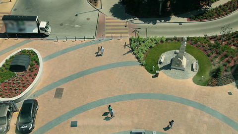 Streets And Parks From Above In Hungary stock footage
