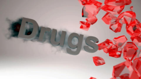 Narcotics and Drugs are killing. Crashing heart. Motion blur Stock Video Footage