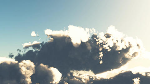 Flying Through Clouds 3D Stock Video Footage