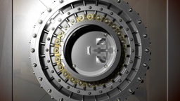 Vault Door Open stock footage