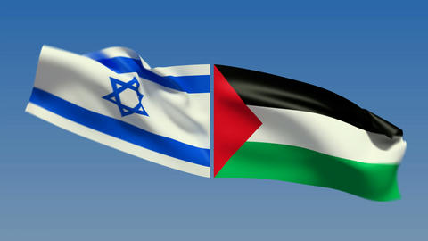 Loopable Israel and Palestine Flags. Alpha channel is included Animation