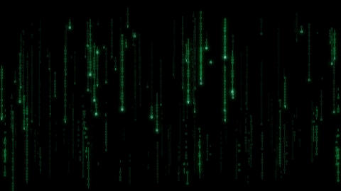 Cyberspace - loopable binary code rain with zeroes and ones Animation