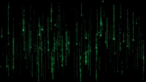 Cyberspace - loopable binary code rain with zeroes and ones Stock Video Footage