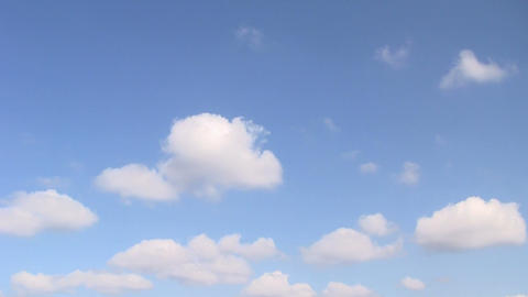 Clouds and blue sky. Time lapse Stock Video Footage