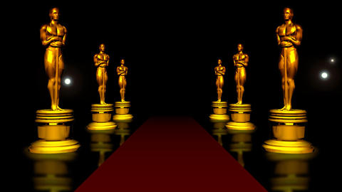 red carpet and the Golden Oscar Animation