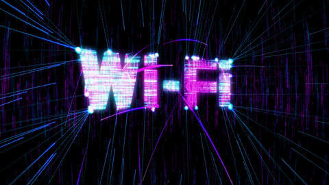 Loopable Wi-Fi animation. Alpha is included Stock Video Footage