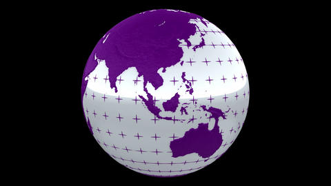Seamless loop Rotating Planet Earth CG animation. Alpha channel is included Animation