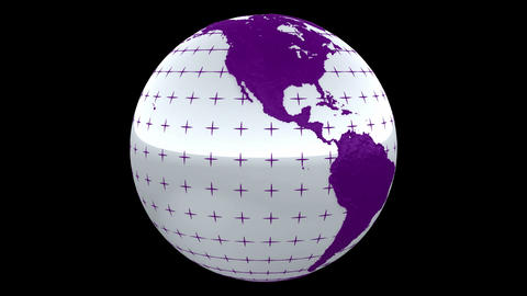Seamless loop Rotating Planet Earth CG animation. Alpha... Stock Video Footage