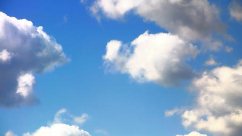 Heaven - Clouds and blue sky. Time lapse Stock Video Footage