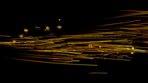 Loopable Tracing lines with fireworks explosions. Alpha... Stock Video Footage