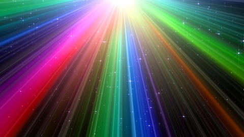 Colorful Rays Bg1 HD Animation