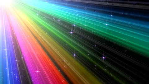 Colorful Rays Cg1 HD Animation