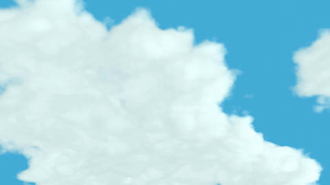 Loopable Clouds and blue sky. Time lapse Stock Video Footage