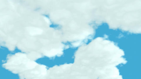 Loopable Clouds and blue sky. Time lapse Animation