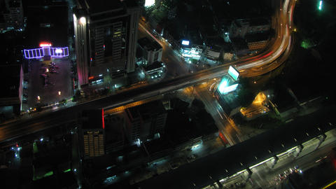 City traffic time lapse zoom 2 Stock Video Footage