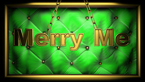 merry me green Stock Video Footage