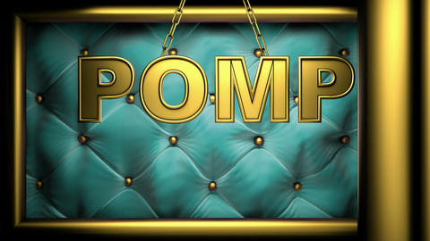 pomp golub Stock Video Footage