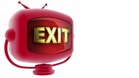 exit on loop alpha mated tv Stock Video Footage