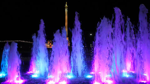 Light colour fountain Stock Video Footage