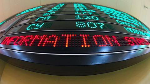 Information board Stock Video Footage