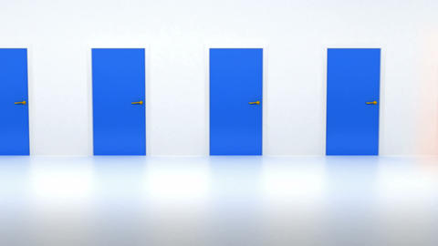 Looped Doors 1 red Animation
