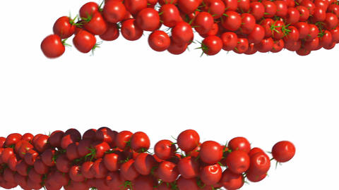 Two Tomatoe Cherry flows with slow motion Animation