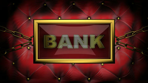 blinking monitor bank Stock Video Footage